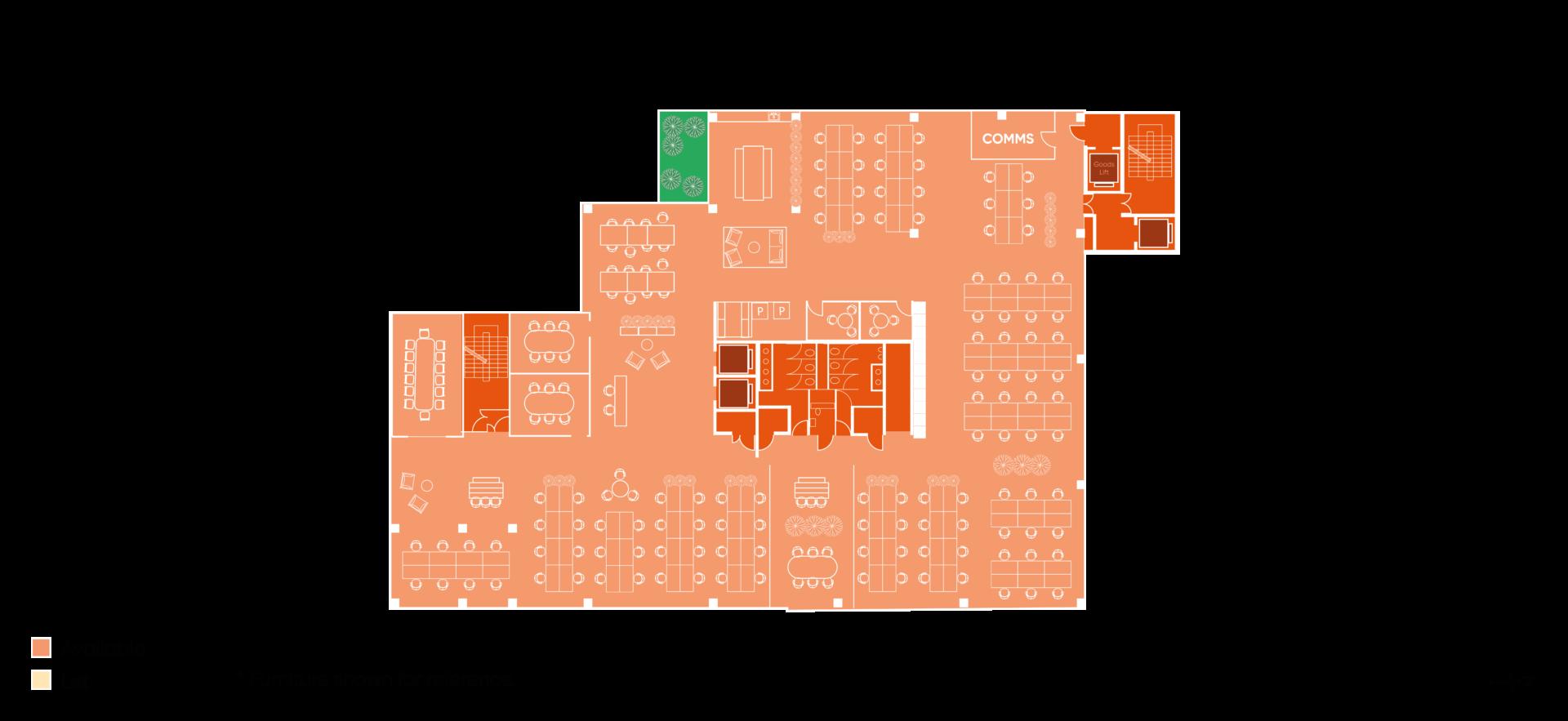 Floor plan of Building HX4 Level 1