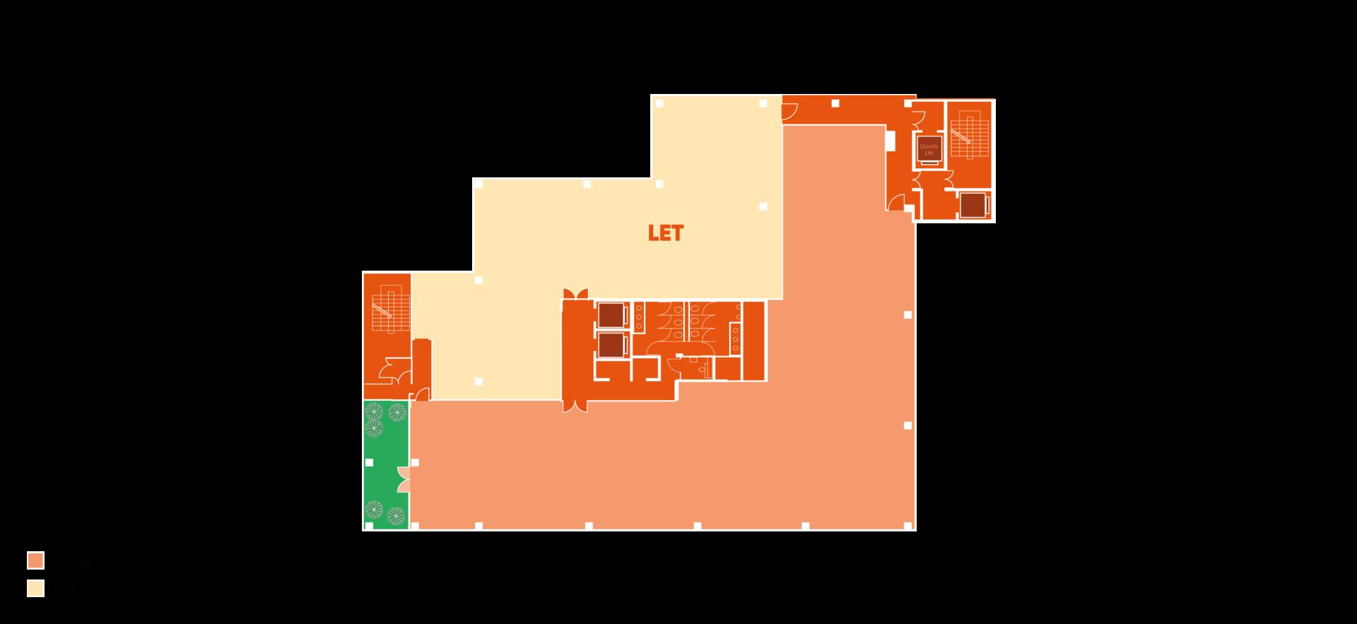 Floor plan of Building HX4 Part level 4