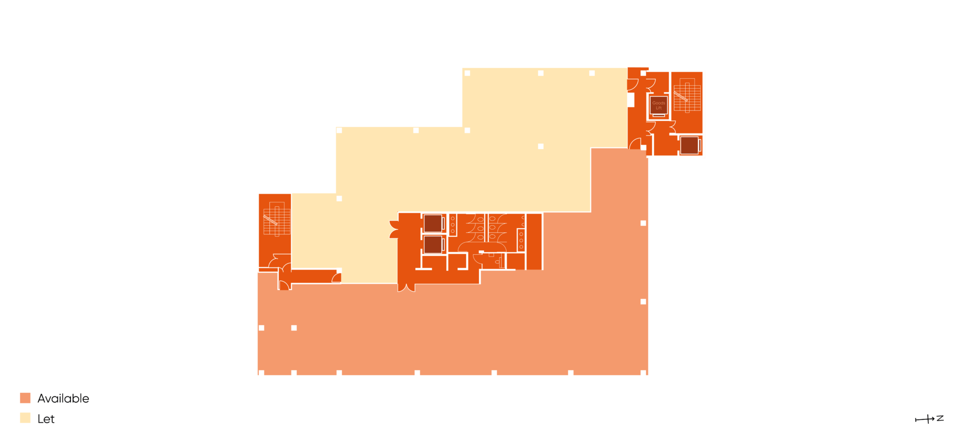 Floor plan of Building HX4 Part level 5